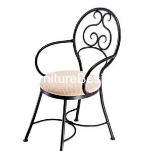 Black folding dining chairs wrought iron chairs