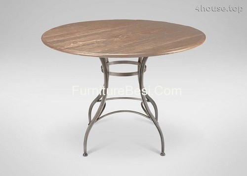 Bistro table with umbrella hole