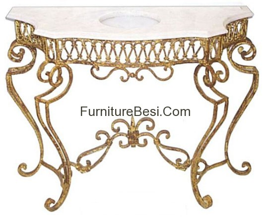 Console table iron furniture hotel