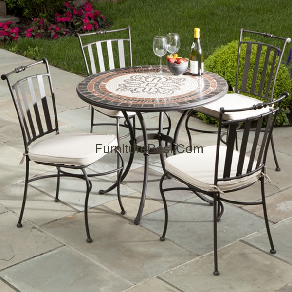 Elegant black wrought iron patio furniture