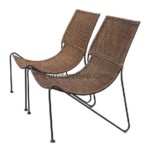Iron Chair Mixed Rattan apartemen