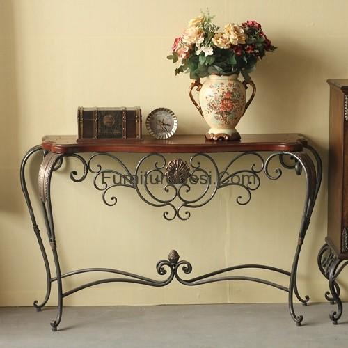 Iron console tables furniture apartemen
