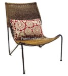 Nice iron chair rattan for hotel