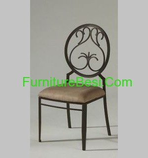 Wrought iron dining side chair apartemen