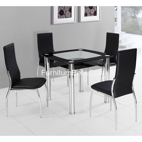 furniture round small glass dining table