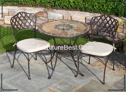 mosaic patio table set furniture