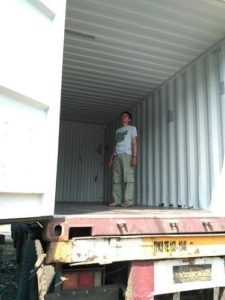 The process of checking the box container suitable to be used or not