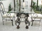 Garden table set of wrought iron furniture
