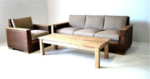 Korean Wooden Order Sofa Set for Living Room