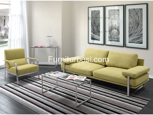 Stainless Steel Living Room Set