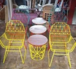 Yellow Table set For Terrace Villa Order USA