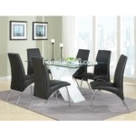Dining Set Black Chair Stainless steel For Apartment Meeting Desk