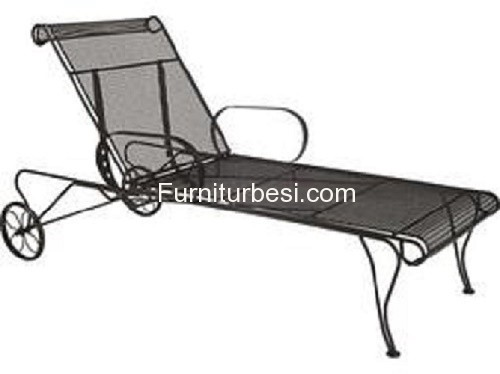 Iron Lounger For Swimming Pool