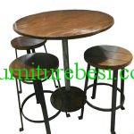 Set of Wooden Trembesi Wood Cafe Chairs