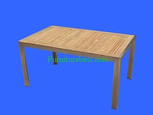 Teak Garden Table Frame Stainless
