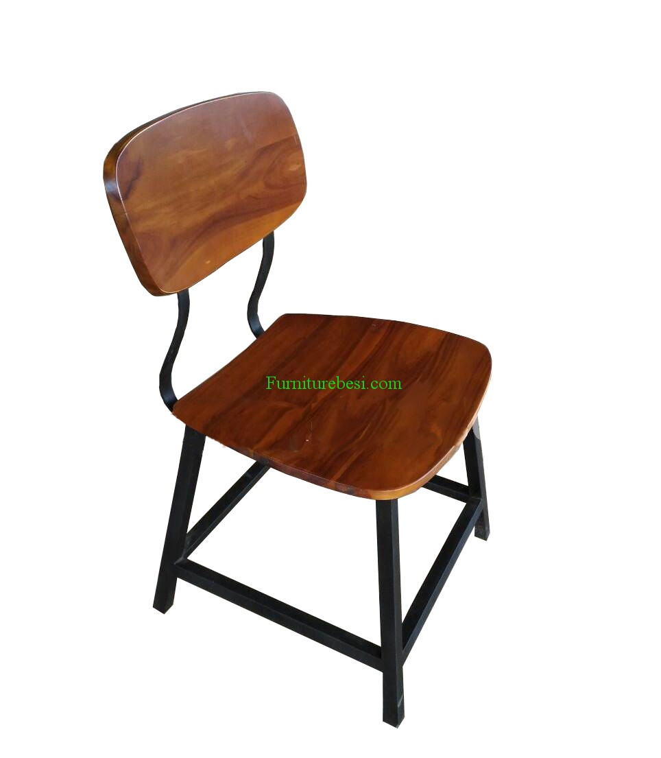 Cafe Chair Wood Combination Iron Furniture Industry