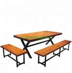 Dining Set Teak Wood For Cafe