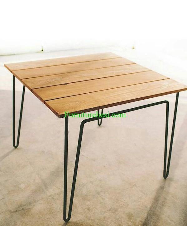 Minimalist Iron Steel Table Cafe