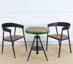 Vintage Iron Frame Cafe Chair Table Set