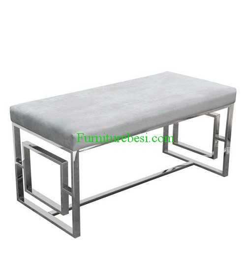 Stainless Steel Cushion Bench Combination