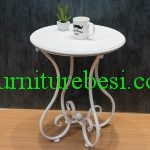White Terrace Table Iron Frame Order Yogyakarta Hotel
